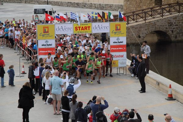 Start of the 2013 Cyprus Half Marathon & 10 km