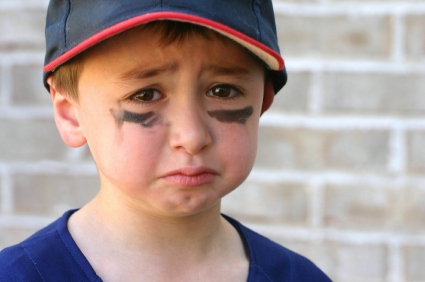 Little boy cry Sporty